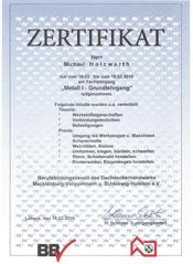 Zertifikat-Klempner-Grundlehrgang